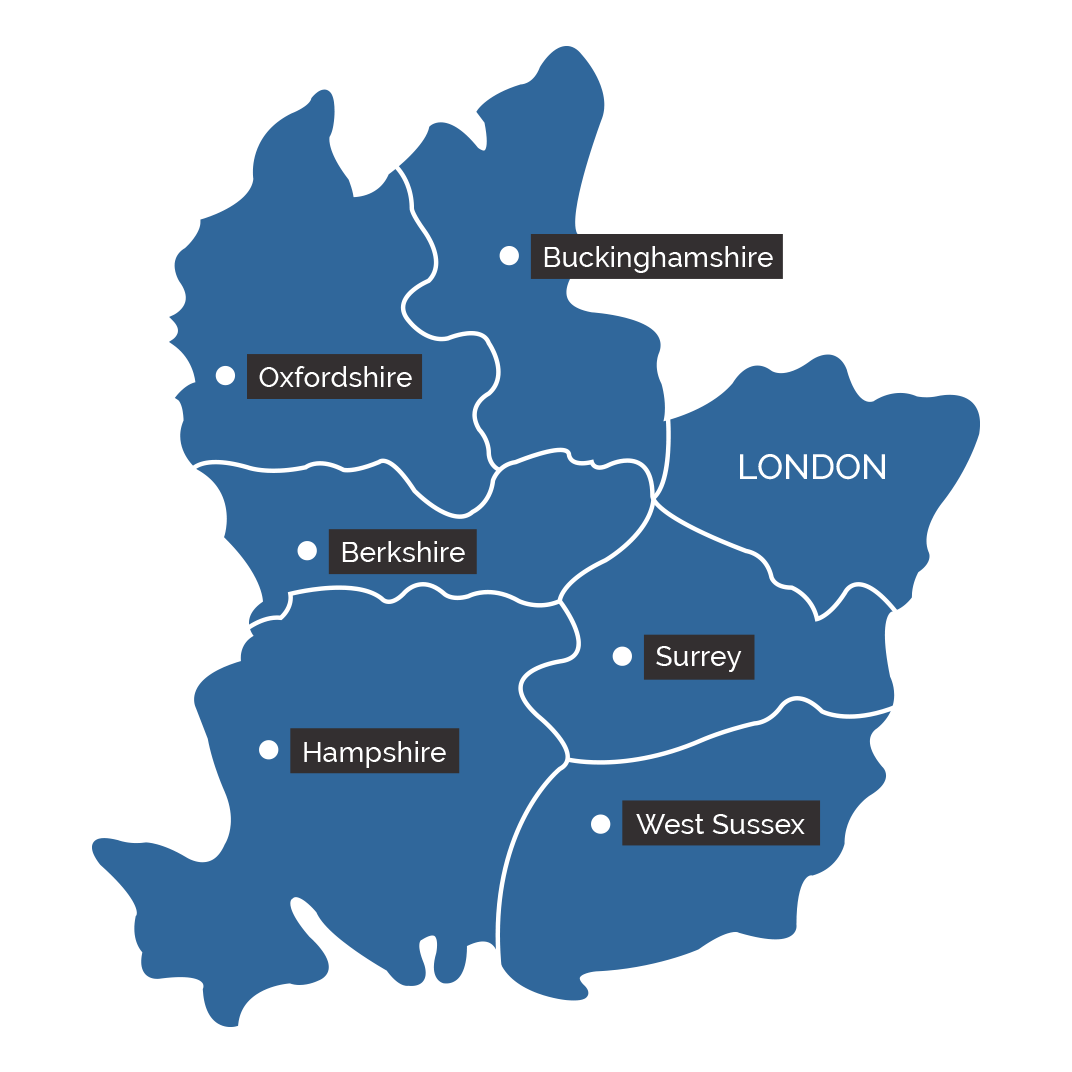 Home Counties Area Map
