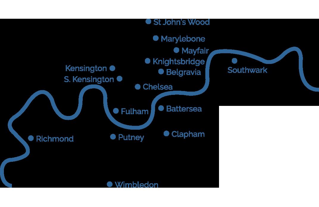 London Area Map